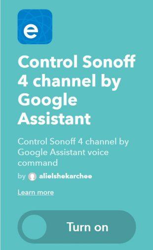 Умный выключатель Sonoff T1: интеграция с IFTTT