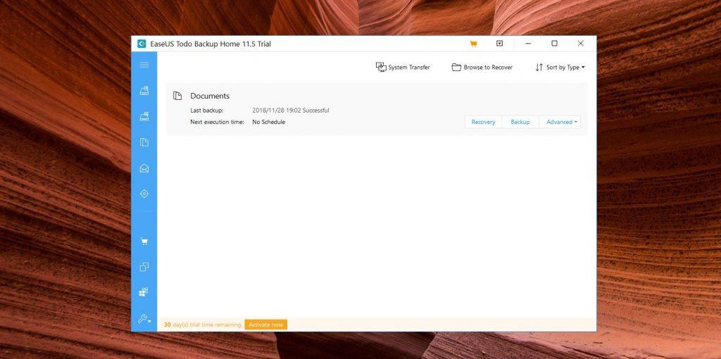 Приложения для бэкапа: EaseUS Todo Backup Free