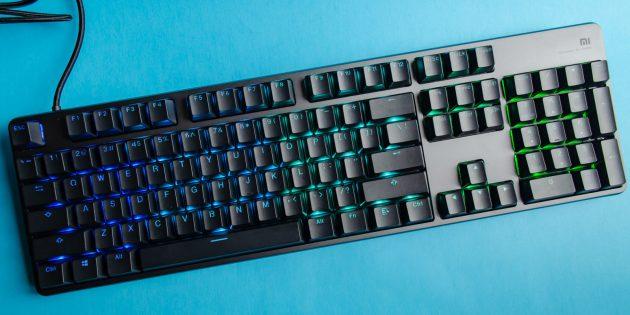 Клавиатура Xiaomi Gaming Keyboard удобна в использовании