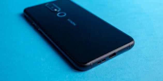Обзор Nokia 6.1 Plus: Нижняя грань