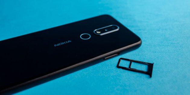 Обзор Nokia 6.1 Plus: Лоток