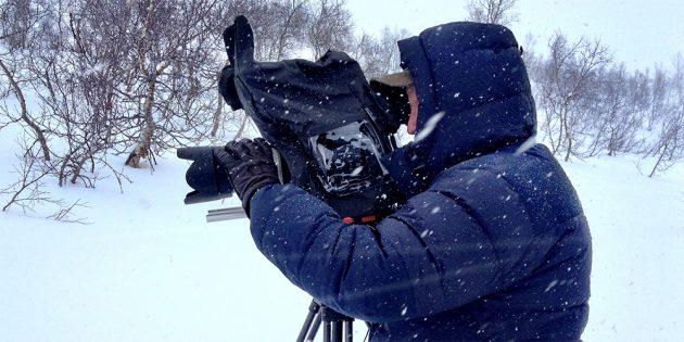 Зимняя фотосъёмка: Защитите камеру от снега