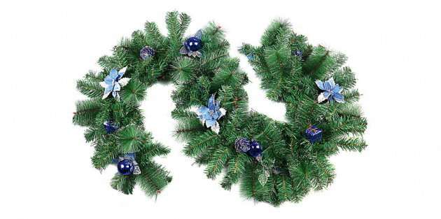 Новогодние украшения: Хвойная гирлянда