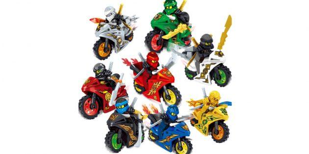 что подарить ребёнку: Фигурки ниндзя на мотоциклах