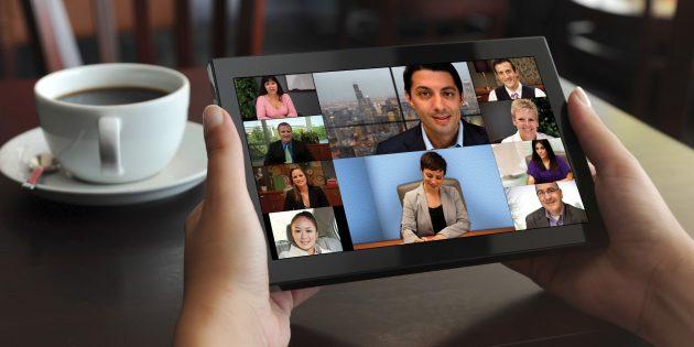 Почему планшеты актуальны: Видеоконференции