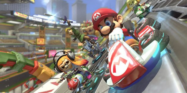 Игры на Nintendo Switch: Mario Kart 8 Deluxe