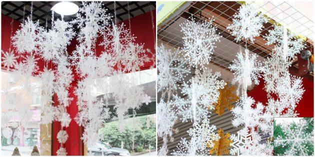 Новогодние украшения с AliExpress: снежинки
