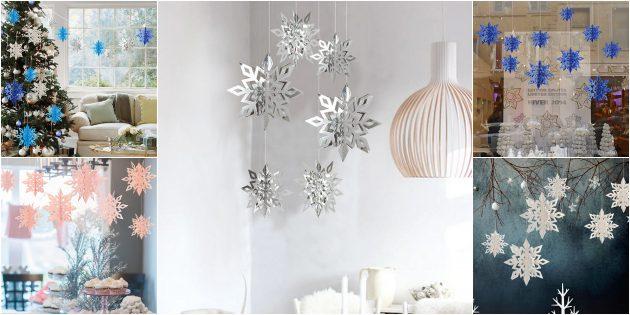 Новогодние украшения с AliExpress: Снежинки из картона