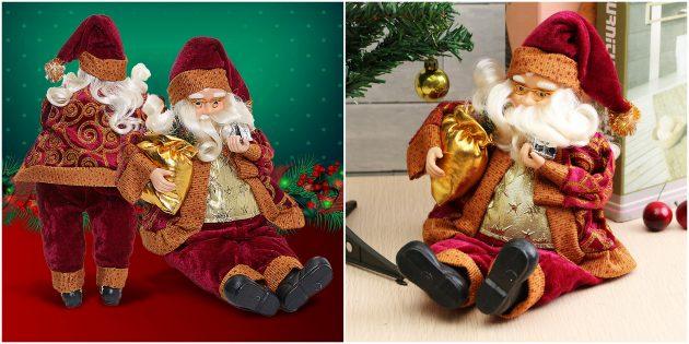 Новогодние украшения с AliExpress: Фигурка Санта-Клауса