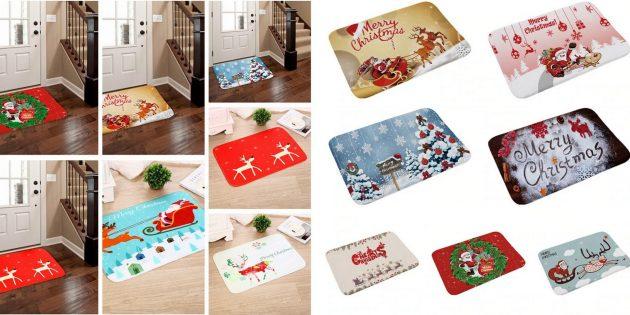 Новогодние украшения с AliExpress: Придверные коврики