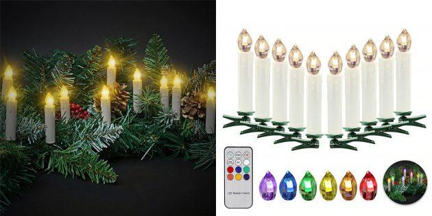 Новогодние украшения с AliExpress: Светодиодные свечи