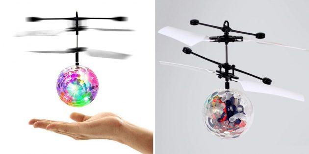 что подарить ребёнку: Светящийся вертолёт-дрон