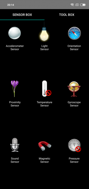 Обзор Xiaomi Redmi Note 6 Pro: Сенсоры
