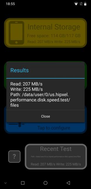 Скорость накопителей UMIDIGI Z2 Pro