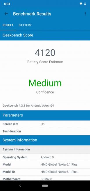 Обзор Nokia 6.1 Plus: Battery Test