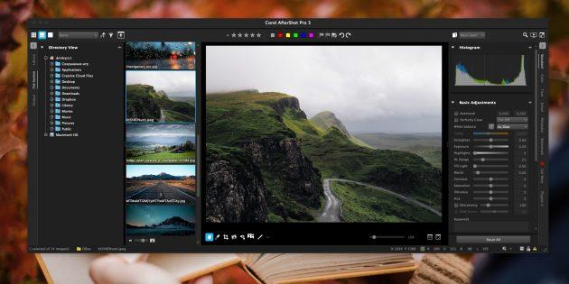 Как организовать коллекцию фотографий: Corel AfterShot Pro