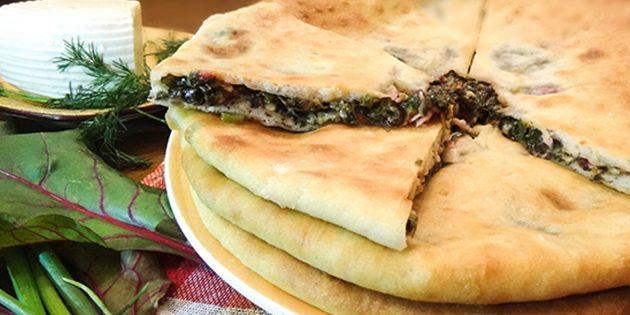 Рецепты: осетинские пироги со свекольной ботвой и сыром