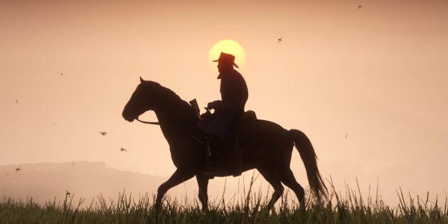 ВИДЕО: Главный герой RDR 2 часто падает с лошади. И это очень смешно