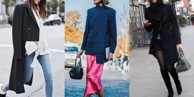 Модные пиджаки 2018–2019: Асимметричные