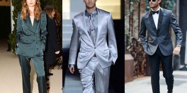 Модные пиджаки 2018–2019: Атласные