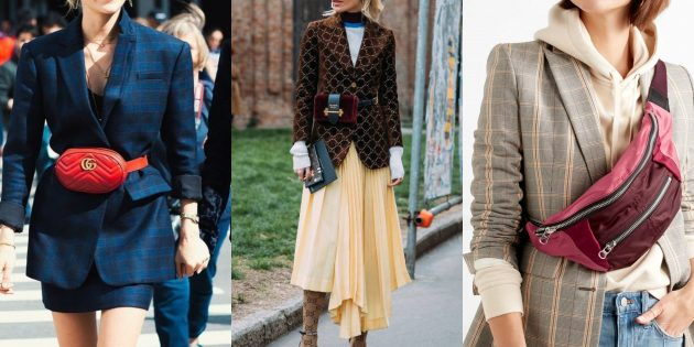 Модные пиджаки 2018–2019: С поясной сумкой