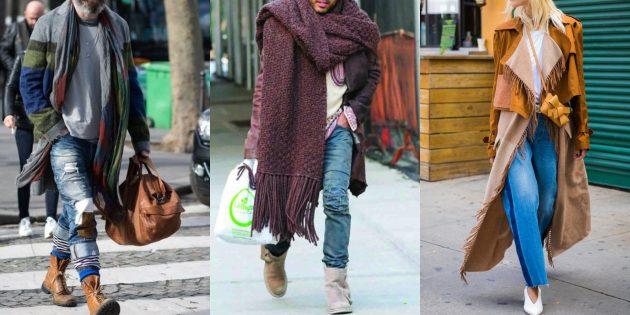 С чем носить джинсы осенью и зимой: С вещами в богемном стиле