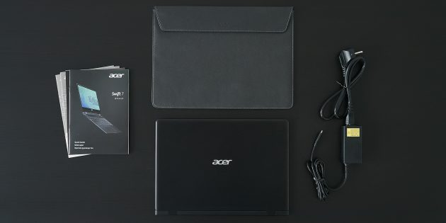 Acer Swift 7: Комплектация
