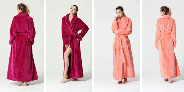 Тёплый халат для неё