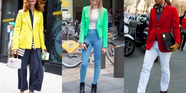Модные пиджаки 2018–2019: Яркие цветные пиджаки
