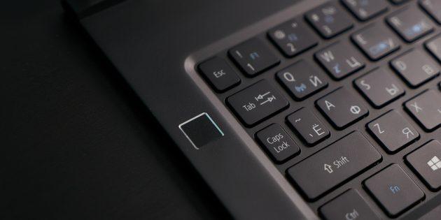 Acer Swift 7: Сенсор отпечатка пальца