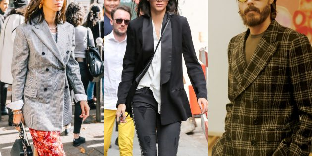 Модные пиджаки 2018–2019: Двубортные