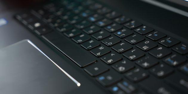Acer Swift 7: Клавиатура