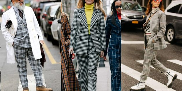 Модные пиджаки 2018–2019: Клетка