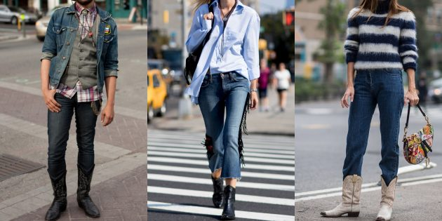 С чем носить джинсы осенью и зимой: C вещами в ковбойском стиле