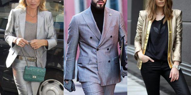Модные пиджаки 2018–2019: Металлик