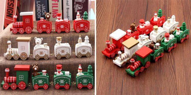 Новогодние украшения с AliExpress: Новогодний поезд