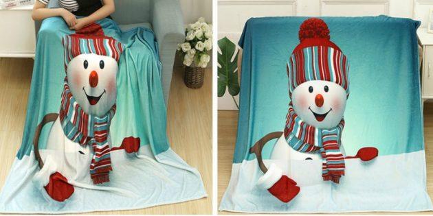 Мягкое флисовое одеяло
