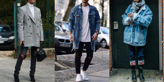 С чем носить джинсы осенью и зимой: С блейзером oversize