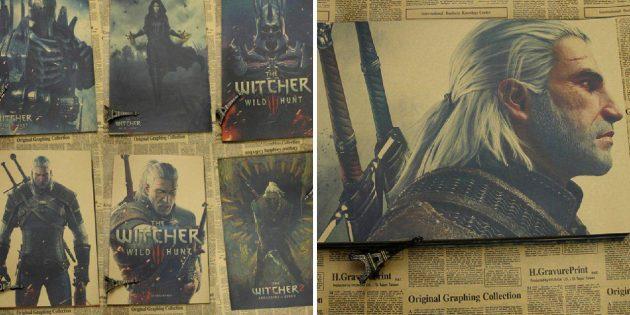 Плакаты Ведьмак