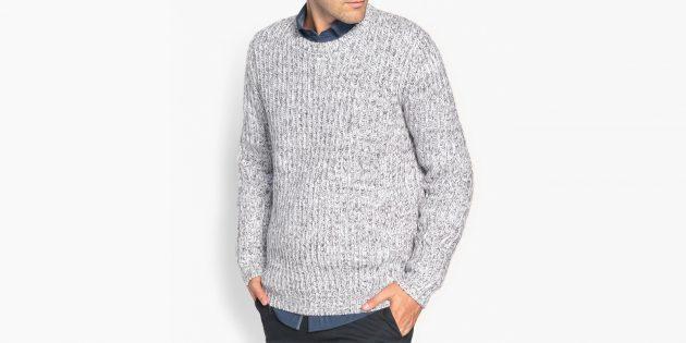 Пуловер из плотного трикотажа La Redoute Collections
