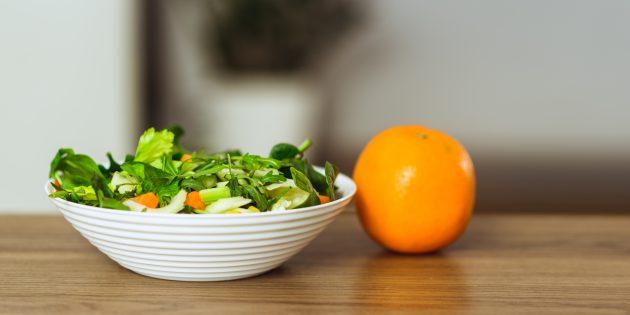 Салат с авокадо, морковью, апельсинами и руколой: простой рецепт