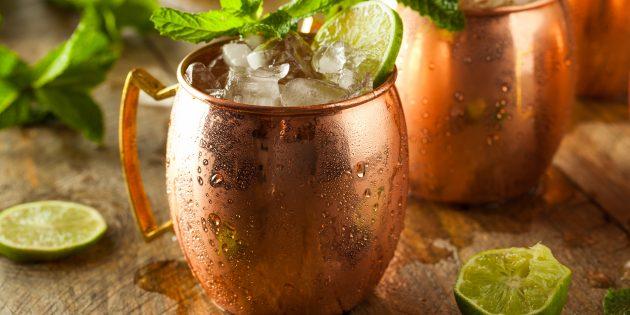 коктейли с водкой: московский мул