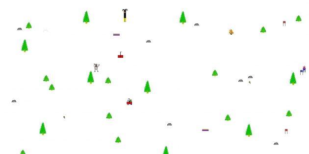 Классические игры для Android и iOS: SkiFree