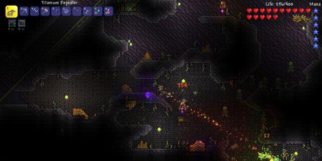 Игры про выживание: Terraria
