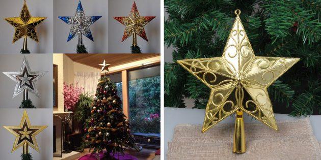 Новогодние игрушки с AliExpress: Звезда-верхушка