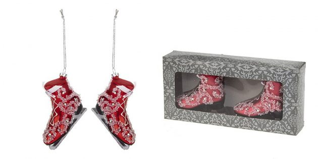 Новогодние игрушки: Набор «Жемчужные коньки»