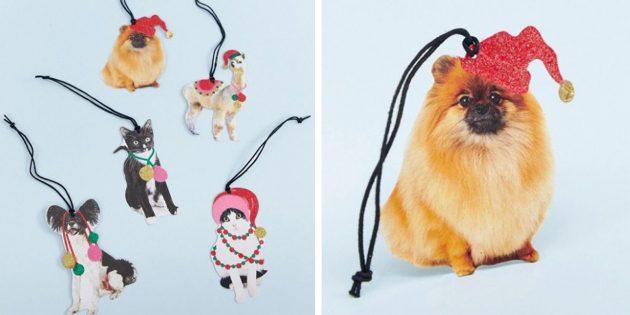 Новогодние игрушки: Набор украшений-животных