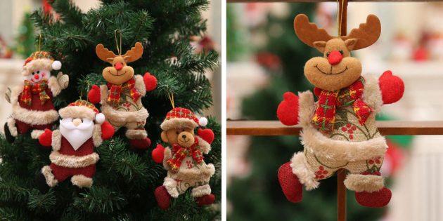 Новогодние игрушки с AliExpress: Фигурки на ёлку