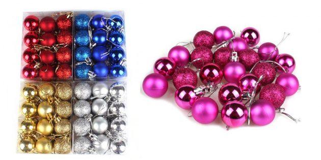 Новогодние игрушки с AliExpress: Набор шаров