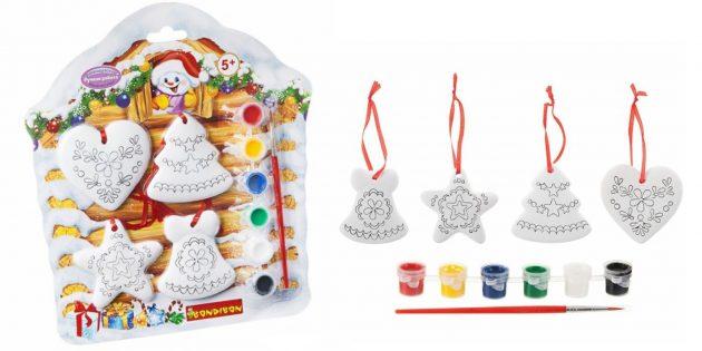 Новогодние игрушки: Расписные игрушки